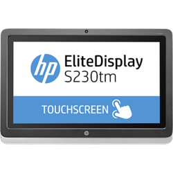 "HP Monitor LED E4S03AA Touchscreen EliteDisplay, 23"", Wide, Full HD, DisplayPort, DVI, Silver"