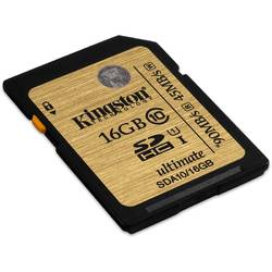 Card de memorie Kingston 16GB, Clasa 10, SDHC