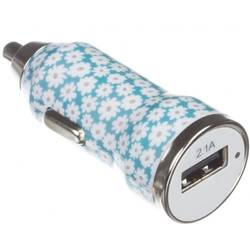 Incarcator auto Trendz 2100 mAh Bullet Ditsy Floral