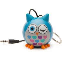 Boxa portabila KitSound Trendz Mini Buddy Owl Blue