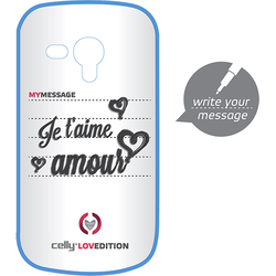 Celly Husa capac clove hidden message pentru samsung galaxy s3 mini