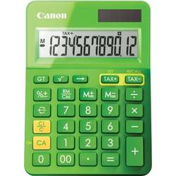 Calculator birou Canon LS123KGR verde, 12 digiti, ribbon, display LCD, functie business, tax si conversie moneda