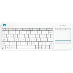 Tastatura Wireless Logitech K400 Plus White, Touchpad, USB, White