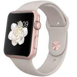 SmartWatch Apple Watch Sport Pink Aluminum Case, Stone Sport Band 42 mm MLC62
