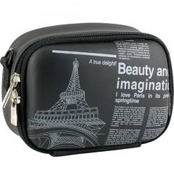 Husa foto Rivacase 7081 PU, Black Newspaper