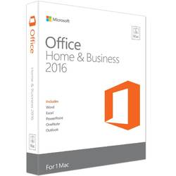 Microsoft Office 2016 Home and Business, versiune MAC, 32/64bit, Limba Engleza, FPP, Retail