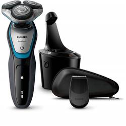 Philips Aparat de ras S5400/26, lame Multiprecision, LED, docking de curatare, acumulator, 3 capete, rotire in 5 directii, trimmer, negru