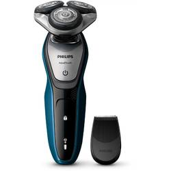 Philips Aparat de ras Wet & Dry S5420/06, lame Multiprecision, LED, acumulator, 3 capete, trimmer, negru