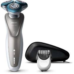 Philips Aparat de ras S7510/41, lame duble Super Lift & Cut, sistem GentlePrecisio, LED, rotire Dynamic Flex, trimmer, husa, alb
