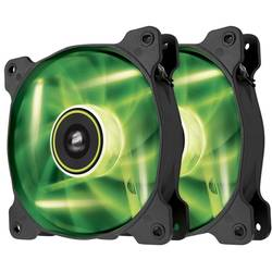 Ventilator / radiator Corsair Air Series SP120 LED Green High Static Pressure 120mm Fan Twin Pack