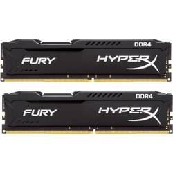 KINGSTON Memorie HyperX Fury Black 8GB DDR4 2666MHz CL15 Dual Channel Kit