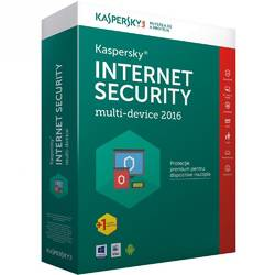 Licenta antivirus retail Kaspersky Internet Security 2016, Renew, 1 AN, 3 calculatoare + 1 calculator gratuit