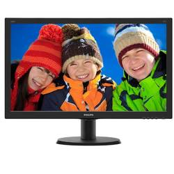 "Monitor LCD Philips 23.8"", Full HD, DVI-D, VGA, HDMI, Negru, 240V5QDSB"