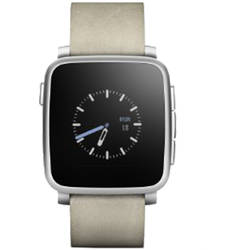 Smartwatch Pebble TIME STEEL Argintiu