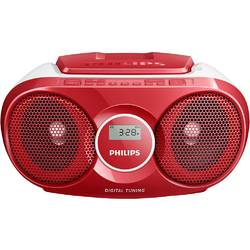 Philips Microsistem audio Boombox AZ215R/12, CD Player, 2x1.5W, Rosu