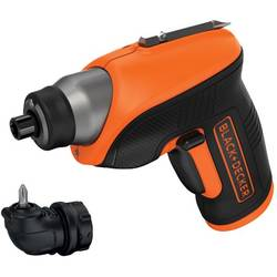 Black&Decker Surubelnita electrica CS3652LC, 3,6V Li Ion, 1,5Ah, 5,5 Nm, 180 RPM, Led + mandrina unghi drept