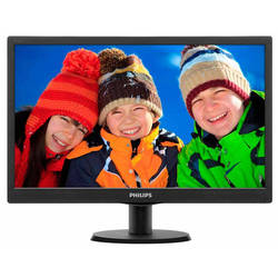 "Monitor LED Philips 193V5LSB2/10 18.5"" 5ms black"