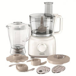 Philips Robot de bucatarie Daily Collection HR7628/00, 650 W, bol 1.5 l, blender 1 l, 2 viteze + Pulse, alb