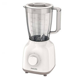 Philips Blender HR2100/00, 400W, 1.25 l, 2 viteze, Alb/Bej