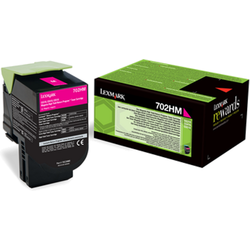 Lexmark 702HM Magenta High Yield Return Program Toner Cartridge