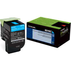 Lexmark 802SC Cyan Standard Yield Return Program Toner Cartridge