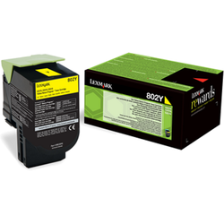 LEXMARK Toner 80C20Y0 802Y YELLOW RETURN PROGRAM CARTRIDGE