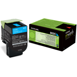 LEXMARK Toner 80C20C0 802C CYAN RETURN PROGRAM CARTRIDGE