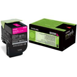 LEXMARK Toner 80C20M0 802M MAGENTA RETURN PROGRAM CARTRIDGE