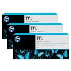 HP B6Y38A INK 771C 3/PK 775-ML LT GRAY
