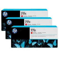 HP B6Y32A INK 771C 3/PK 775-ML CHROM RED