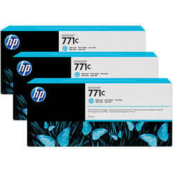 Toner HP B6Y36A INK 771C 3/PK 775-ML LT CyanN