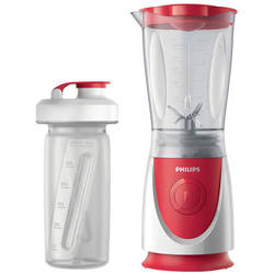 Philips Mini blender Daily Collection HR2872/00, 350 W, 0.6 l, 1 viteza, rosu/alb
