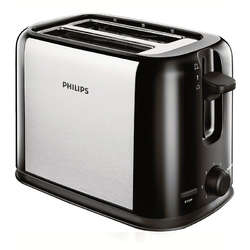 Philips Prajitor de paine Daily Collection HD2586/20, 950 W, 2 felii, negru/argintiu