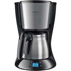 Philips Daily Collection Cafetiera HD7470/20 Negru si metal, cu vas din otel inoxidabil