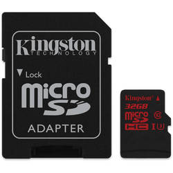 Kingston Flash Memory Card Micro SDHC 32GB Speed Class UHS-3 Included adapters/readers SD