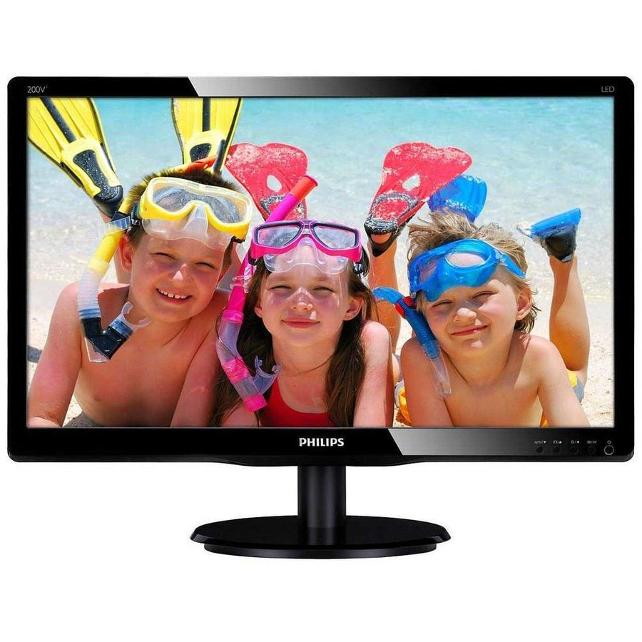Monitor 20 PHILIPS LED, VA panel, 1920x1080,VGA, DVI-D, VESA, Negru Glossy