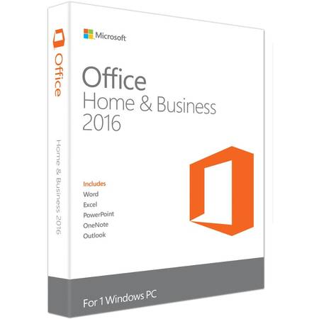 Microsoft Office 2016 Home and Business, 32/64bit, Limba Engleza, FPP, Retail
