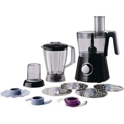 Philips Robot de bucatarie Viva Collection HR7762/90, 750 W, bol 1.5 l, blender 1 l, 2 viteze + Pulse, negru