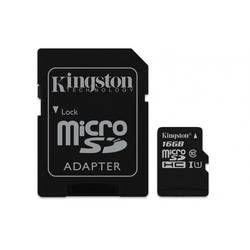Micro Secure Digital Card Kingston, 16GB, SDC10G2/16GB, Clasa 10, R/W 45/10 MB/s, cu adaptor SD