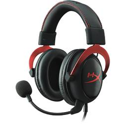 Casti cu microfon Kingston gaming, HyperX Cloud II Gaming Red, Full size, 15-25000Hz, 60 ohm, cablu 3m, culoare rosu, Jack 3.5 mm