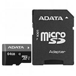 Card memorie A-Data Micro SDXC Premier 64GB UHS-I Clasa 10 + Adaptor SD