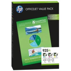 Pachet cartus HP 935 XL + coli A4, C/Y/M