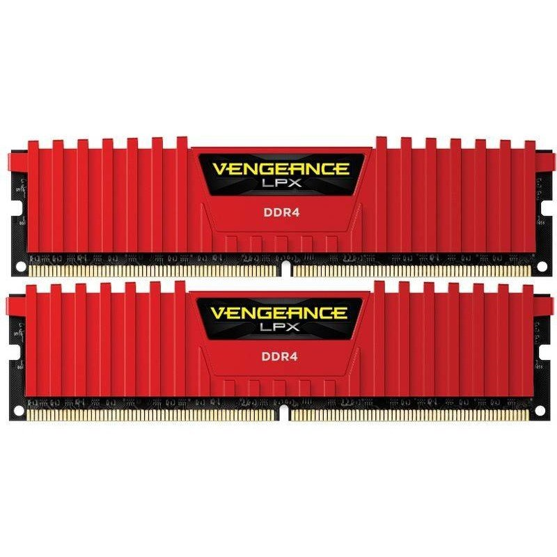 Memorie Corsair Ddr4 Vengeance Lpx Red 16gb (2x8gb) 2666mhz Cl16 1.20v