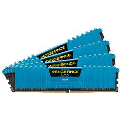 Memorie Corsair Vengeance LPX Blue 4x4GB 2666MHz DDR4 CL16 DIMM 1.2V, Unbuffered, Blue