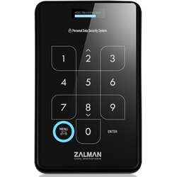Enclosure Zalman ZM-SHE500 HDD SATA 2.5, USB 3.0 with encryption, black