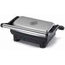 Ariete Grill electric 1913, 1000 W, placi non-stick, argintiu