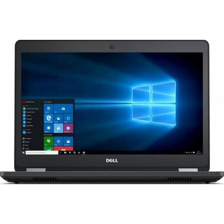"Laptop Dell Latitude 5470, 14"" FHD, Intel Core i7-6600U 4M Cache, up to 3.40 GHz, Skylake, 8GB, 500GB, AMD Radeon R7 M360 2GB, FPR, Tastatura iluminata, Win 7 Pro + Windows 10"