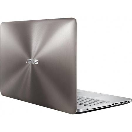 Laptop ASUS N552VX-FY022D, 15.6'' FHD, Intel Core i5-6300HQ, up to 3.20 GHz, 8GB, 1TB, GeForce GTX 950M 4GB, FreeDos, Grey