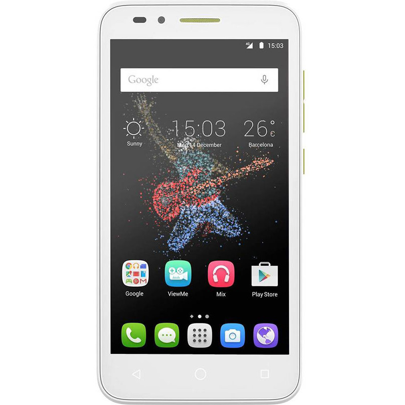 Telefon Mobil ALCATEL ONETOUCH Go Play, 8GB, 4G, White Lime