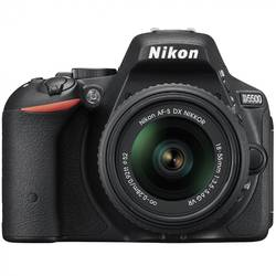 Aparat foto DSLR Nikon D5500, 24,2MP Black + Obiectiv AF-P 18-55mm VR